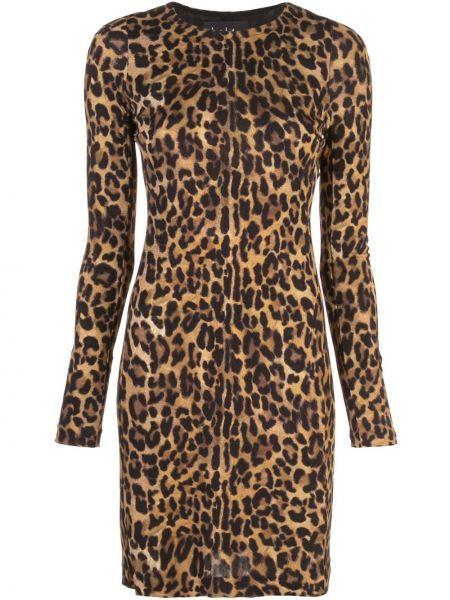 Платье макси длинное - коричневое Nicole Miller