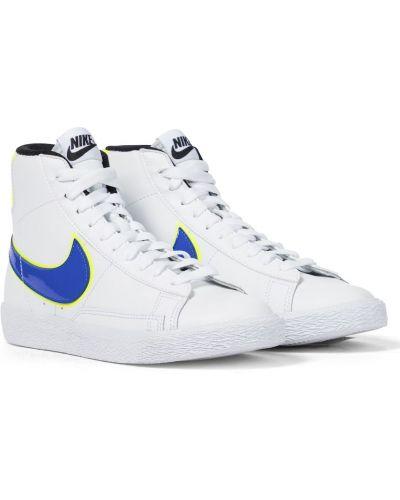 Biała klasyczna marynarka skórzana Nike Kids