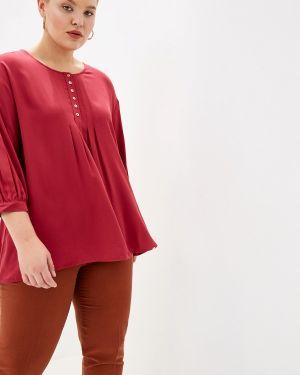 Блузка с длинным рукавом бордовый красная Panda