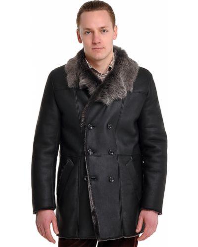 Черное пальто осеннее Armani Collezioni