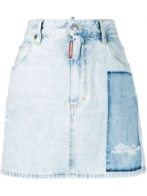 Плиссированная юбка мини на пуговицах с карманами Dsquared2