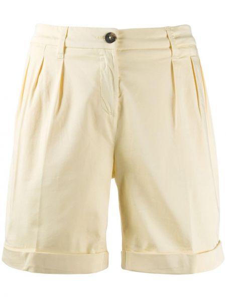 Хлопковые шорты с поясом с отворотом Fay