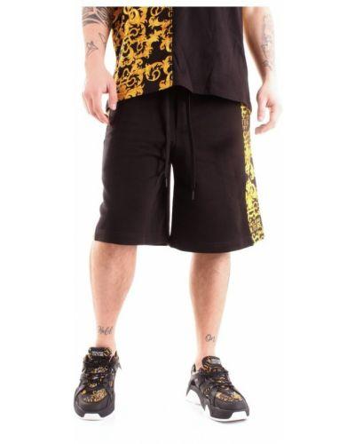 Bermudy jeansowe z printem Versace Jeans Couture