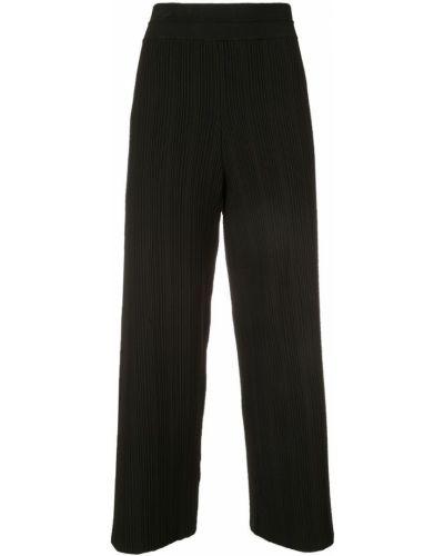 Свободные брюки с поясом черные Yigal Azrouel