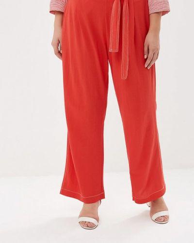 Красные брюки прямые Violeta By Mango