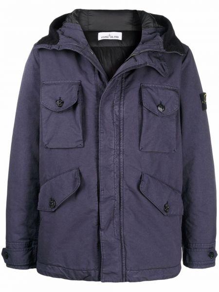 Куртка с капюшоном - синяя Stone Island