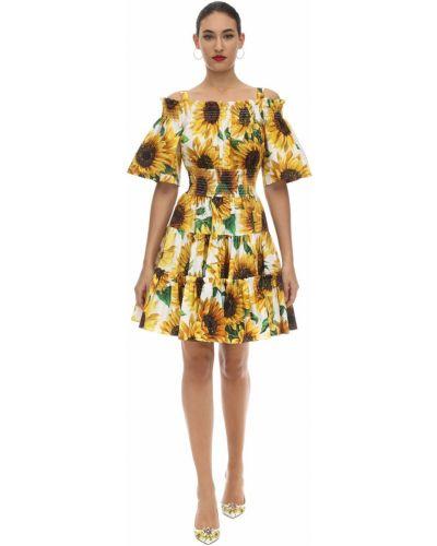 Платье мини с декольте с воротником на бретелях Dolce & Gabbana