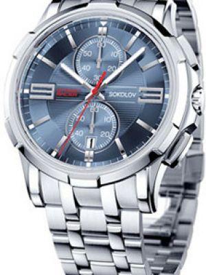 Часы механические водонепроницаемые красный Sokolov