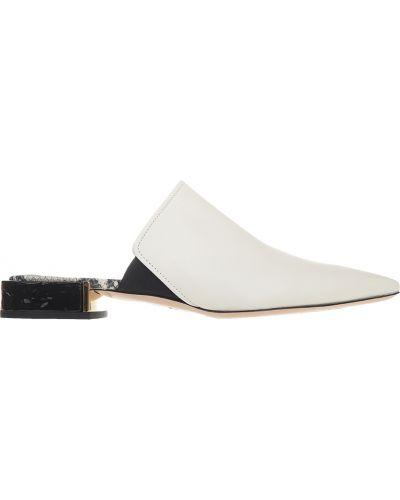 Мюли белый на каблуке Attilio Giusti Leombruni