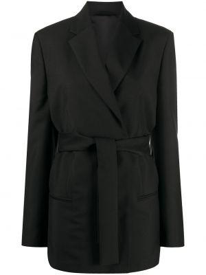 Шерстяной черный классический пиджак с поясом Acne Studios