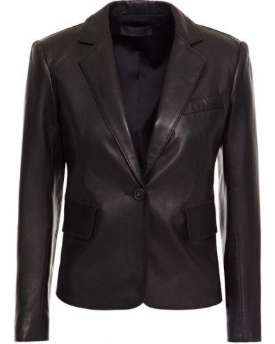 Черный кожаный пиджак с карманами Nili Lotan