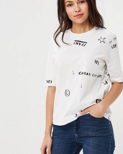 Белая футболка Lee