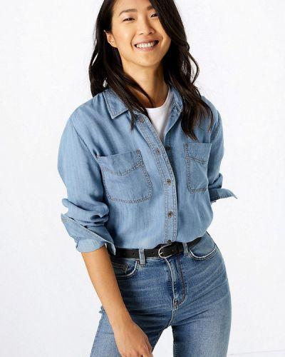 Джинсовая рубашка с запахом Marks & Spencer
