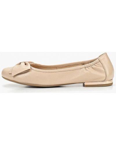 Бежевые балетки кожаные Caprice