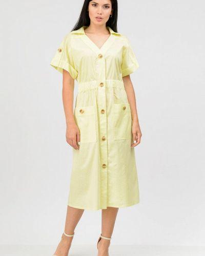Желтое платье рубашка Raslov