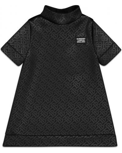 Czarny sukienka wytłoczony Burberry Kids