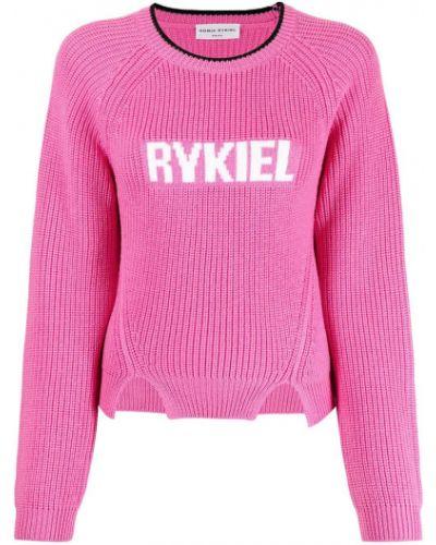 Джемпер с вырезом - розовый Sonia Rykiel
