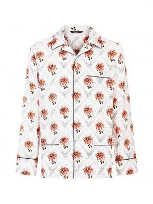 Piżama z długimi rękawami - biała Dolce And Gabbana