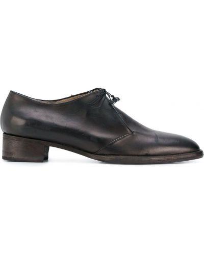 Черные кожаные туфли на каблуке Atelier Bâba