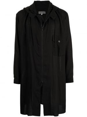 Czarna kurtka z kapturem Yohji Yamamoto