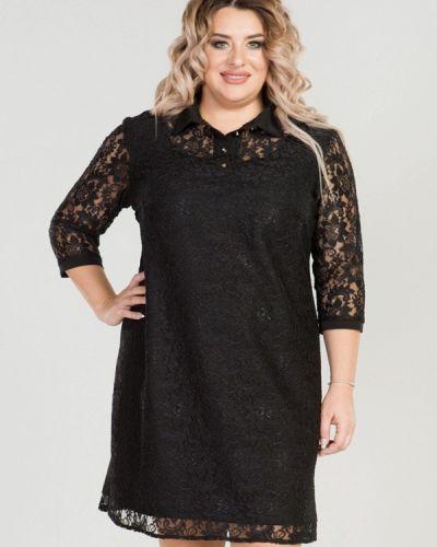 Вечернее платье осеннее черное Luxury Plus