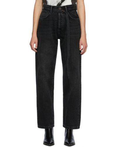 Czarny jeansy z kieszeniami zabytkowe Acne Studios