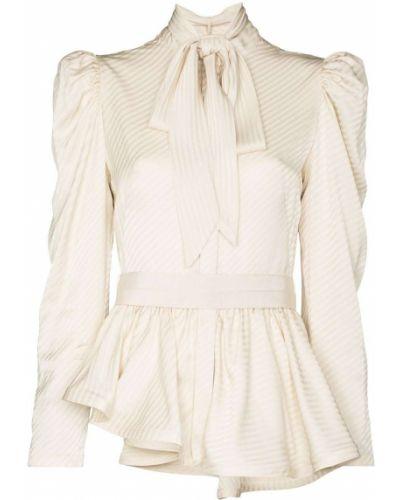 С рукавами асимметричная блузка с длинным рукавом из вискозы на пуговицах Silvia Tcherassi