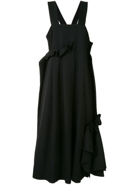 Czarny wełniany sukienka Enfold