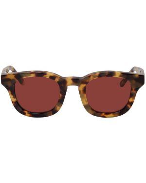 С кулиской коричневые солнцезащитные очки квадратные с завязками Thierry Lasry