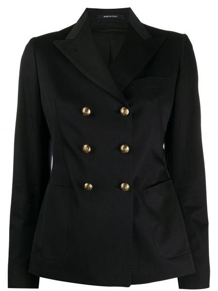 Пиджак черный в полоску Tagliatore