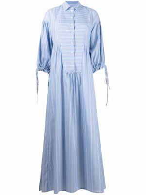 Niebieska sukienka koszulowa w paski bawełniana Evi Grintela