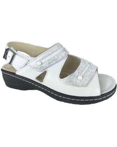 Białe sandały Hickersberger