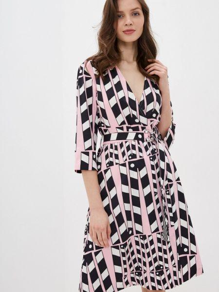 Однобортное розовое платье United Colors Of Benetton