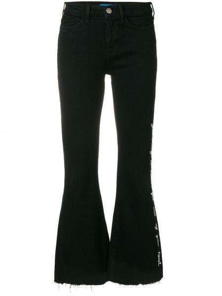 Джинсы с вышивкой - черные Mih Jeans