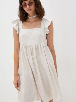 Бежевое прямое платье M,a,k You Are Beautiful