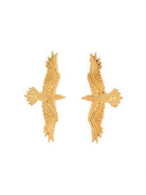 Золотистые желтые серьги металлические Natia X Lako