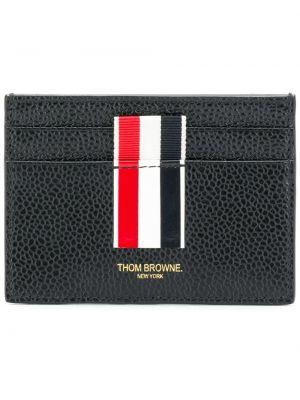 Кожаный кошелек с логотипом коричневый Thom Browne
