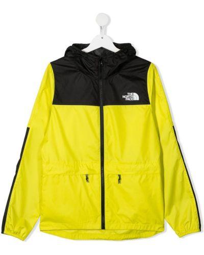 Желтая куртка с капюшоном на молнии The North Face