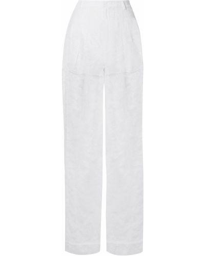 Białe spodnie z paskiem sznurowane Givenchy