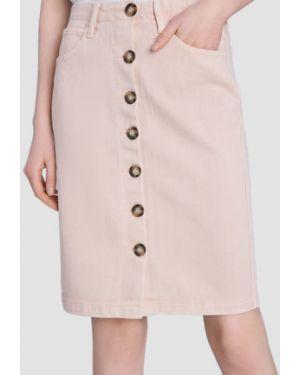 Джинсовая юбка с завышенной талией классическая Ostin