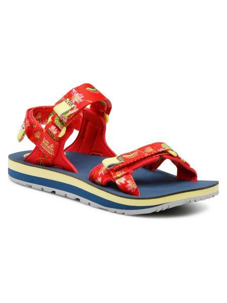 Sandały casual - czerwone Jack Wolfskin