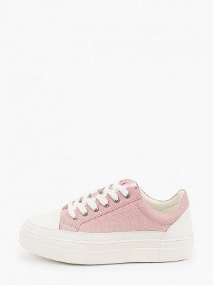 Розовые кожаные низкие кеды Lolli L Polli