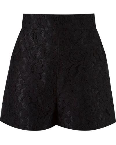 Однобортные ажурные черные шорты Martha Medeiros