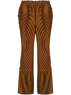 Spodnie bawełniane - pomarańczowe Issey Miyake