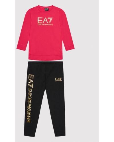 Legginsy - różowe Ea7 Emporio Armani