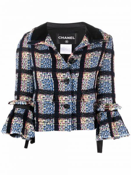 Синий пиджак на пуговицах Chanel Pre-owned