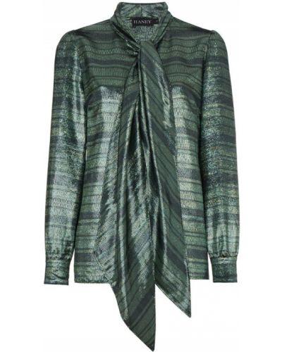 Блузка в полоску шелковая Haney