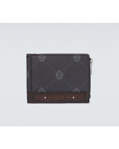 Czarny portfel skórzany Berluti