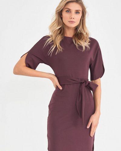 Фиолетовое платье-футляр Donatello Viorano