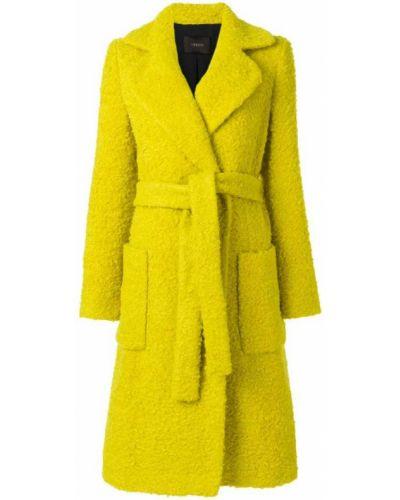 Пальто с поясом из альпаки шерстяное Odeeh